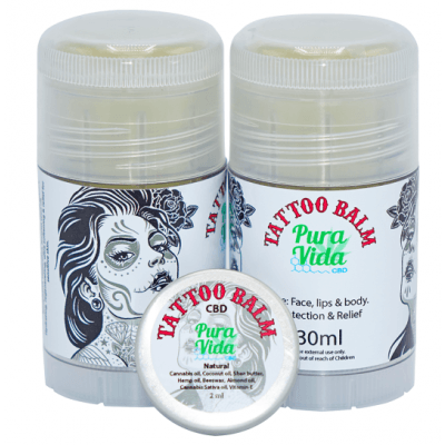 Pura Vida - CBD Balm Tattoo - CBD Oil Shop